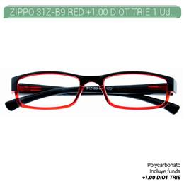 ZIPPO B-CONCEPT 31Z-B9 READING GLASSES RED +1.00 DIOT TRIE 1 Ud. 2005502