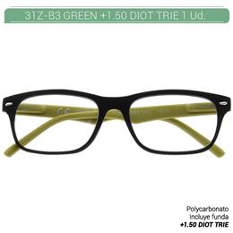 ZIPPO GREEN READING GLASSES +1.50 DIOT TRIE 1 Ud. 31Z-B3-GRE150 230218