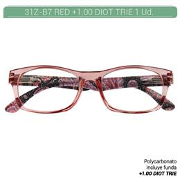 ZIPPO RED READING GLASSES +1.00 DIOT TRIE 1 Ud. 31Z-B7-RED100 2005667