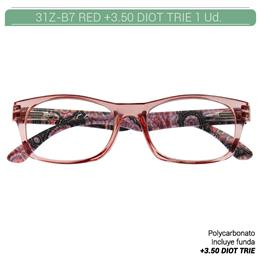 ZIPPO RED READING GLASSES +3.50 DIOT TRIE 1 Ud. 31Z-B7-RED350 2005672